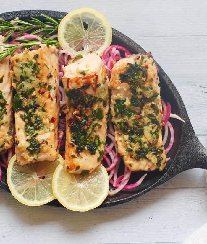 Methi Garlic Salmon