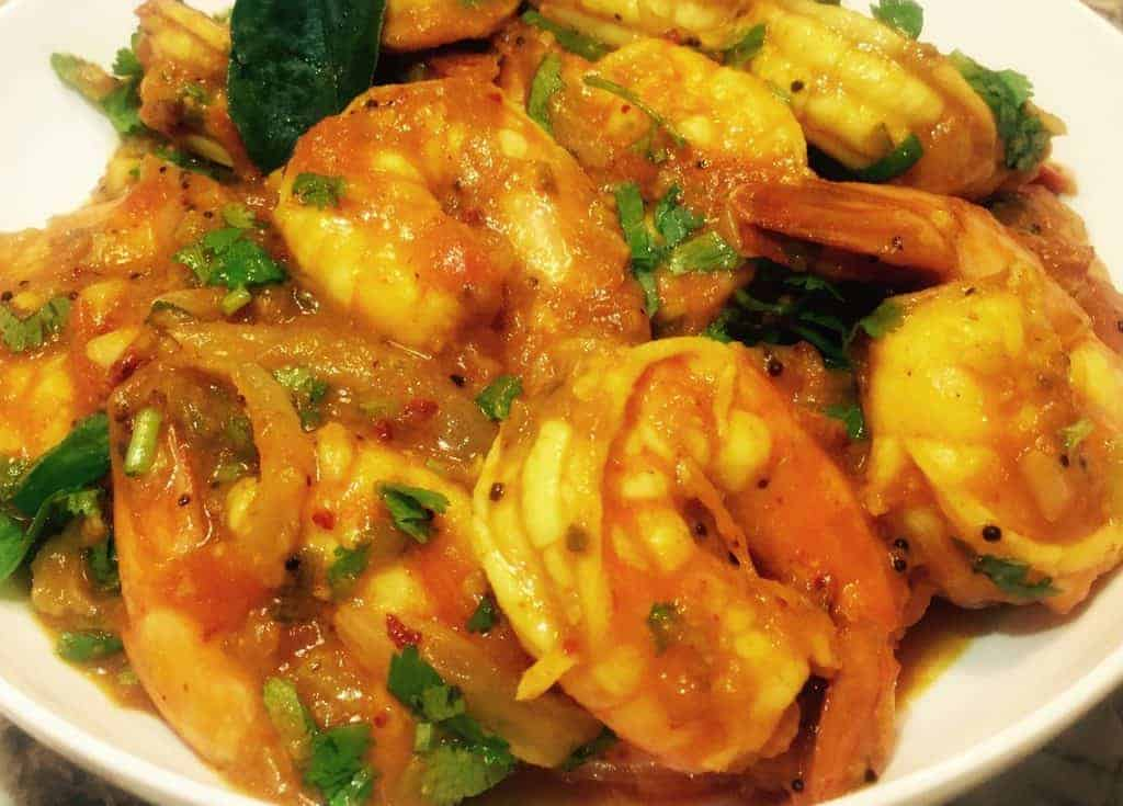 Spicy malabar shrimp curry