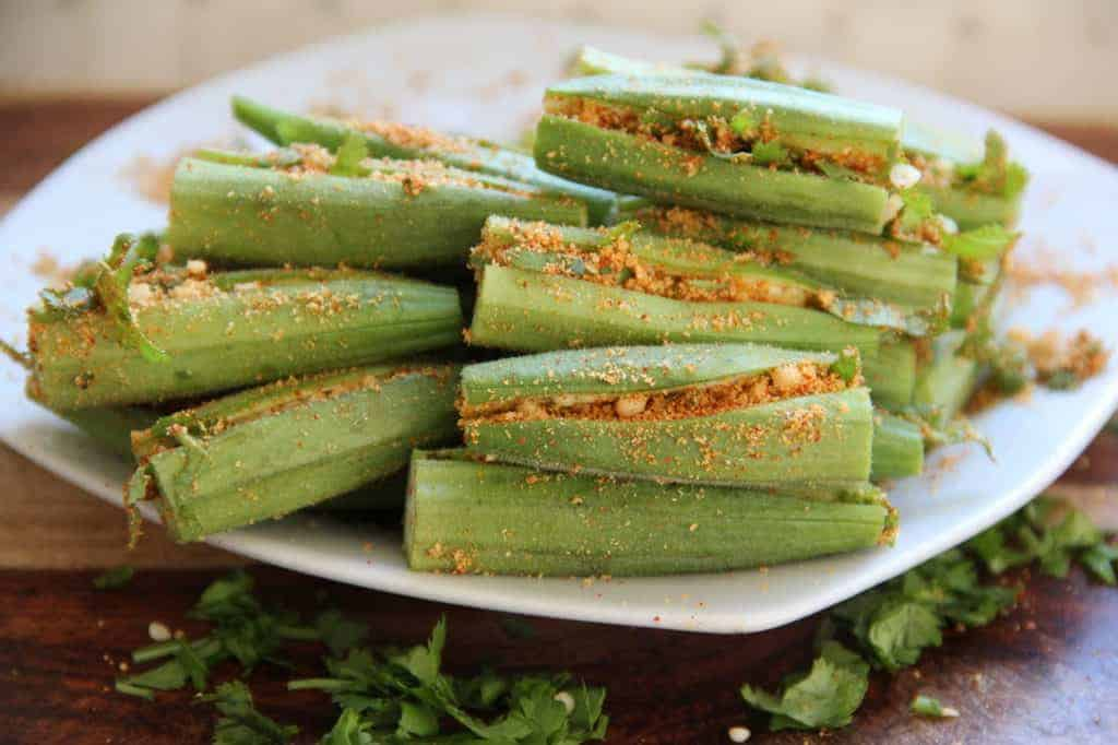 stuffed raw okra