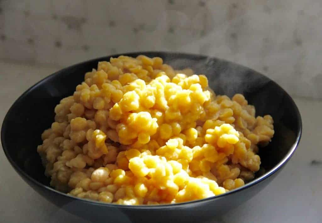 cooked chana dal in a bowl