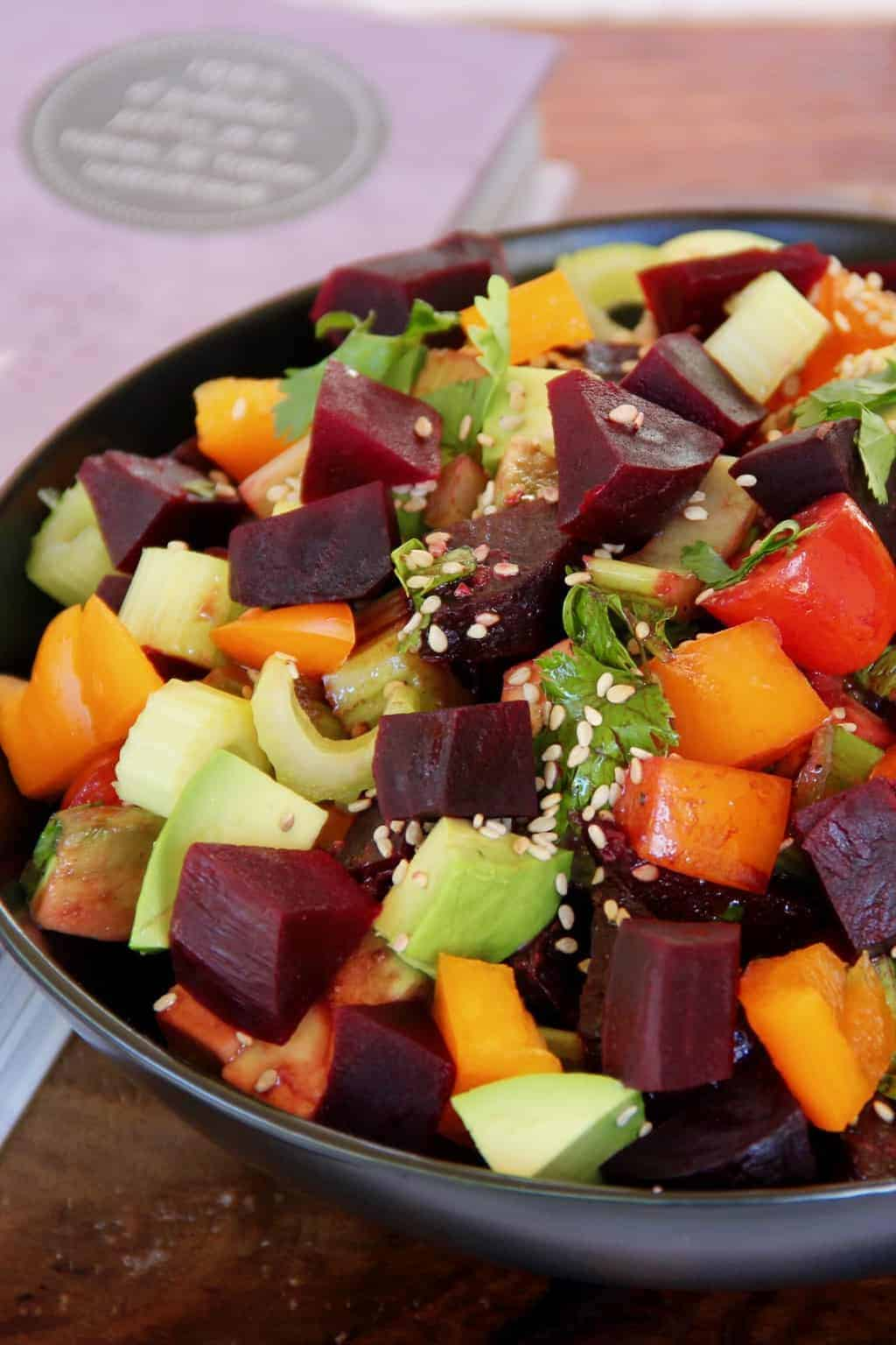Roasted Beet Salad in a bowl