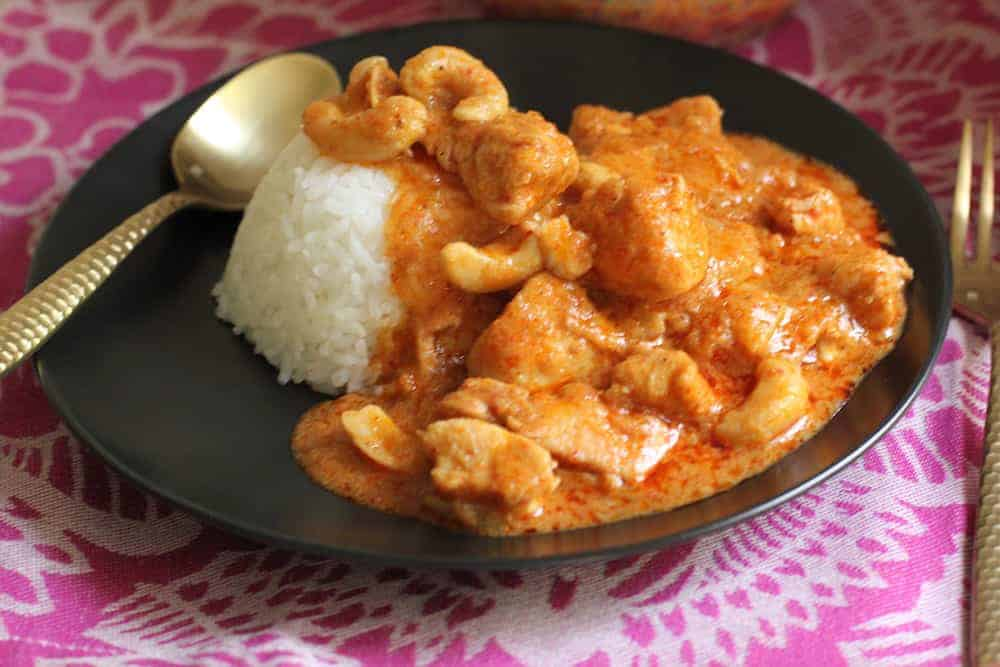 Chicken Massaman Curry served with Jasmine rice