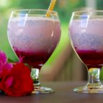 Rose falooda {Rose flavored ice cream sundae float}