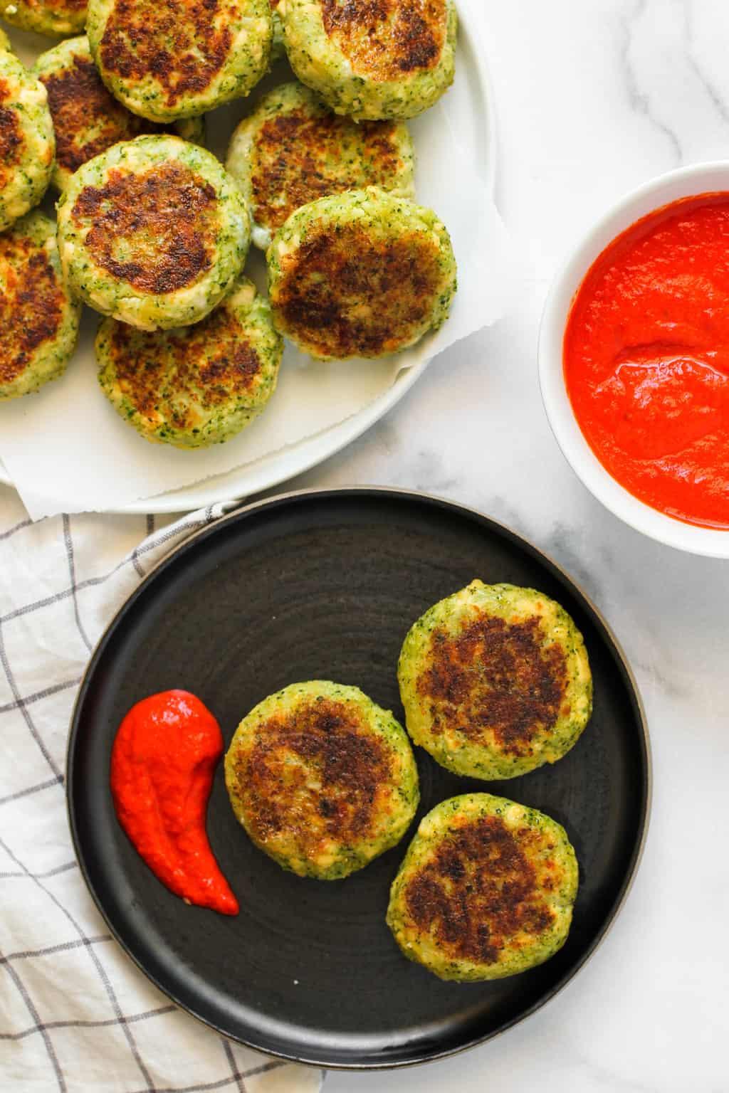 broccoli and tofu patties