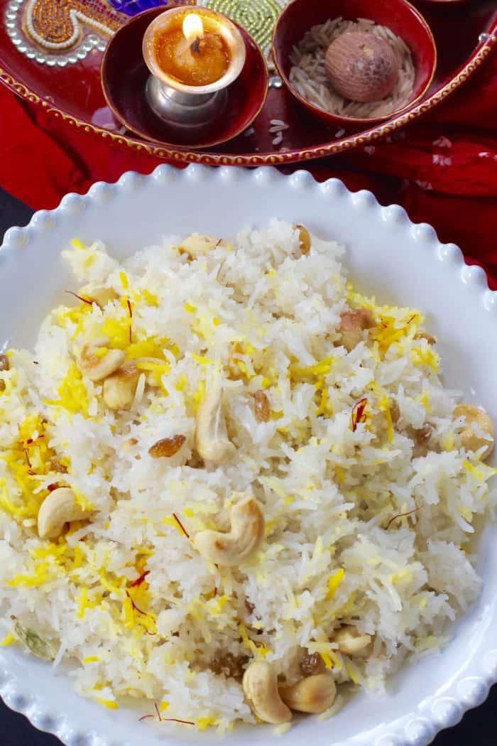 Narali Bhath {Sweet coconut rice}