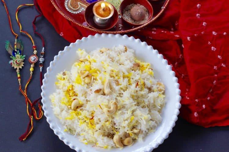 Narali bhath{sweet coconut rice}