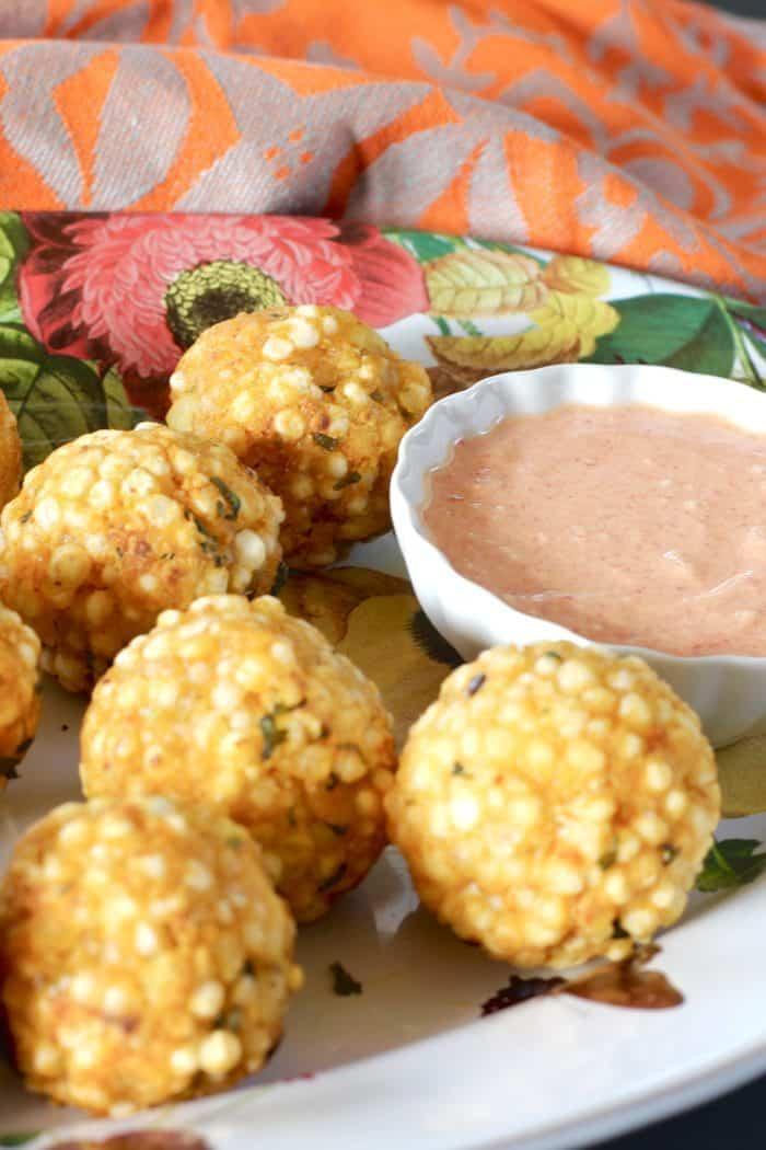 Sabudana Vada – A No-Fry Version {Crispy-Spicy Tapioca Fritters}