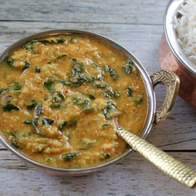 Lentils with drumstick Leaves