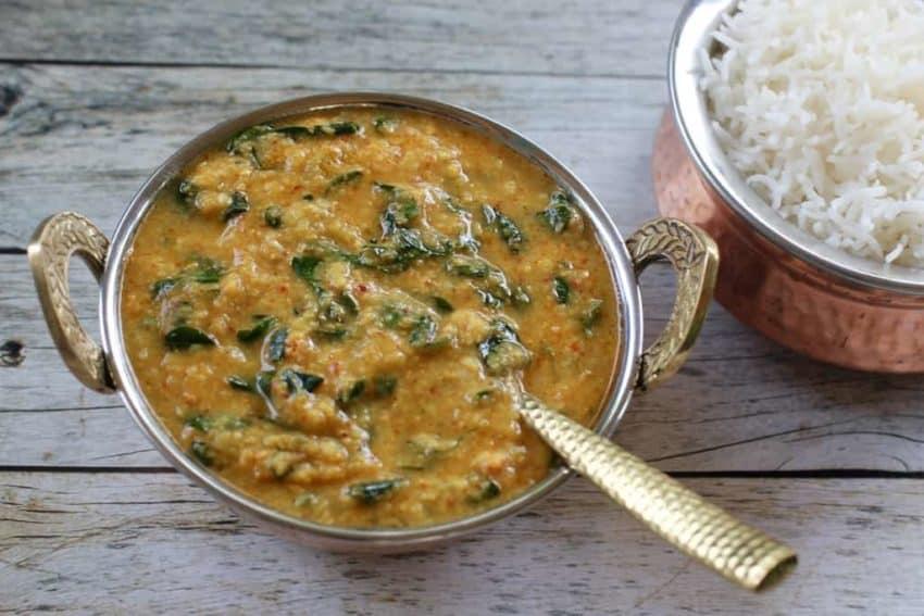 Moringa Dal with rice