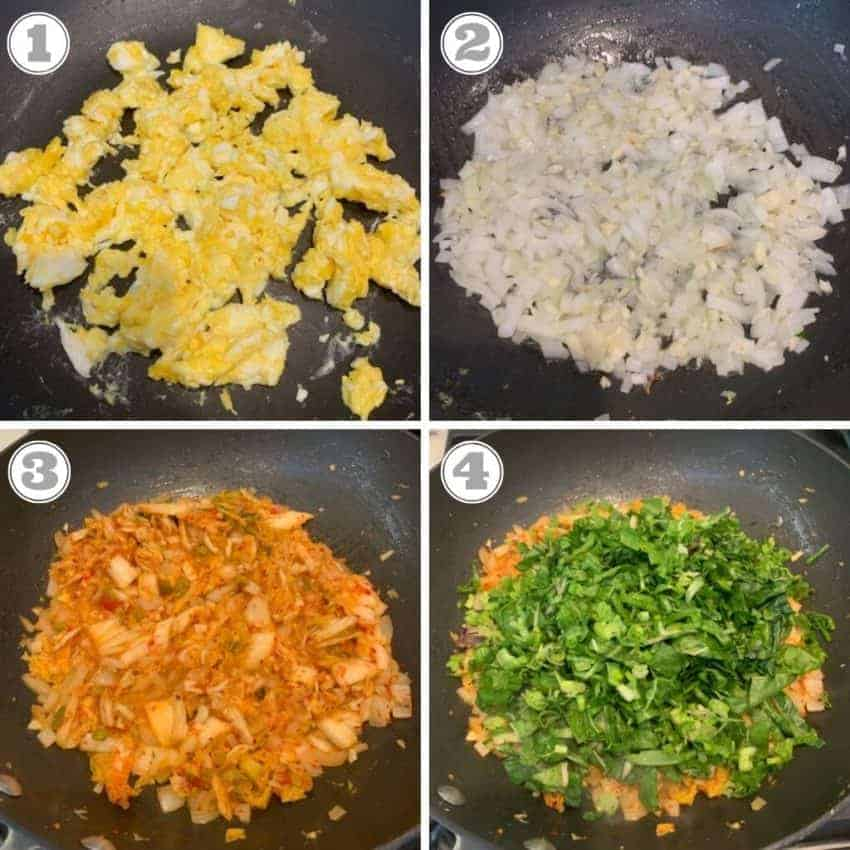 steps to make kimchi fried rice