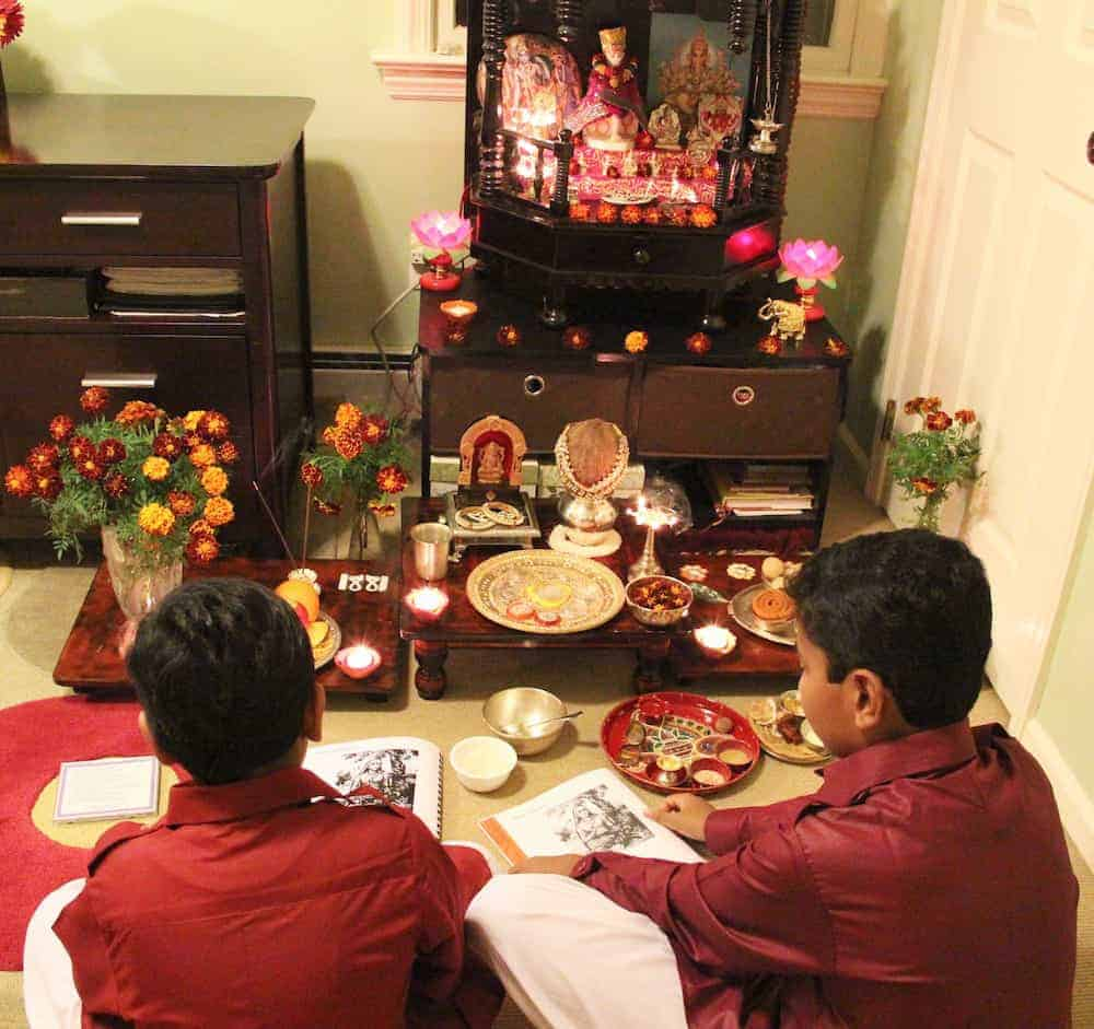Diwali celebrations - Traditional Lakshmi-puja