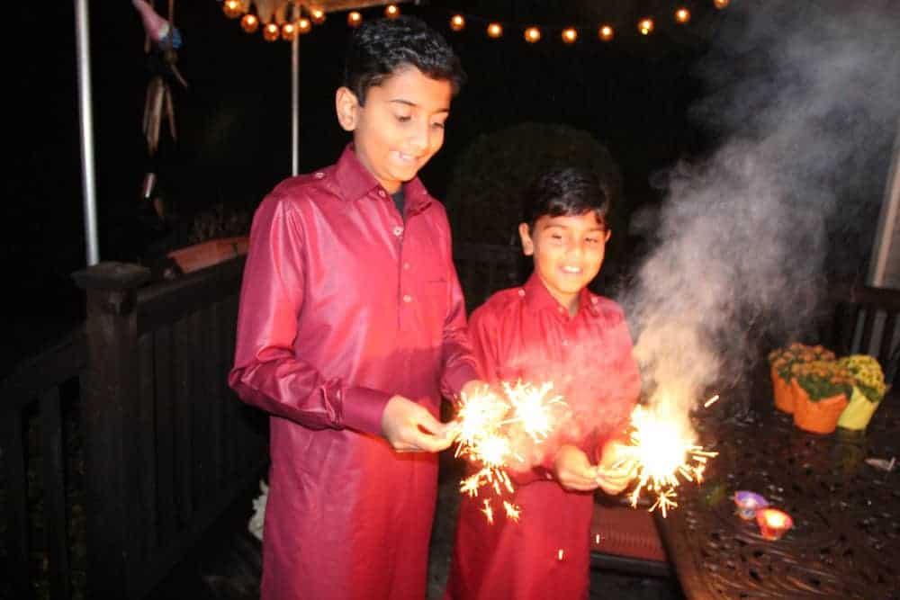 Diwali celebrations - Sparklers