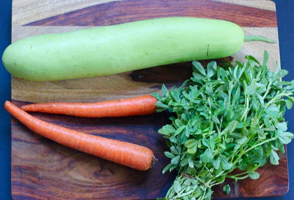 Handvo veggies