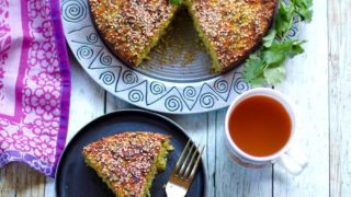 Handvo {Spicy Rice and lentils cake}