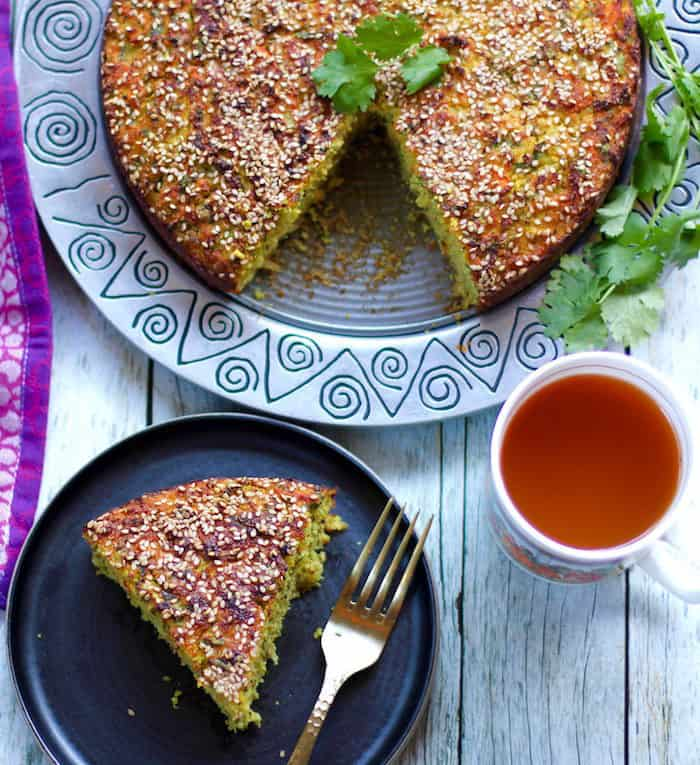 Handvo {Spicy Rice and lentils cake} – Oven & Instant pot Recipe