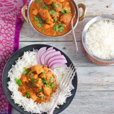 Instant Pot Butter Chicken {Healthy & Authentic}