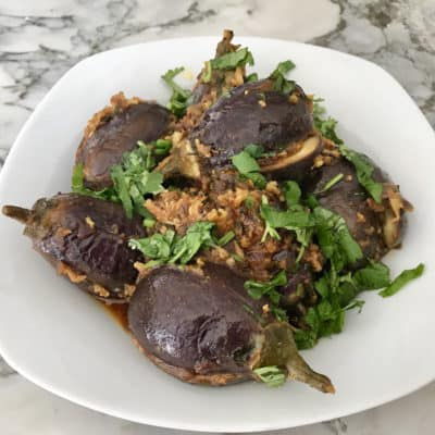 Stuffed Baby Eggplant – Instant Pot