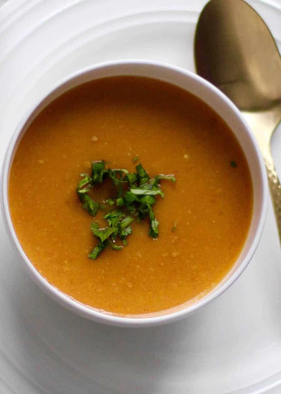 citrusy lentil soup - Instant pot