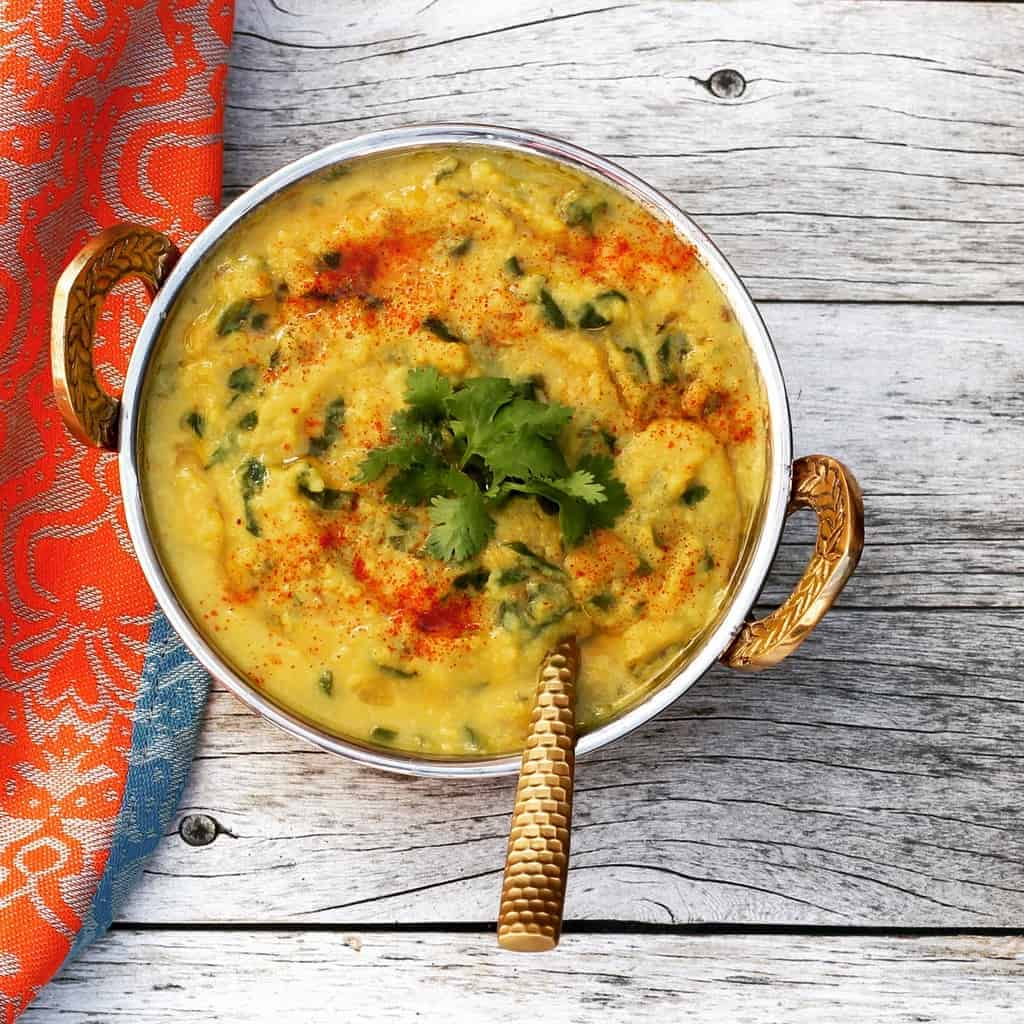 Spinach Daal Instant Pot