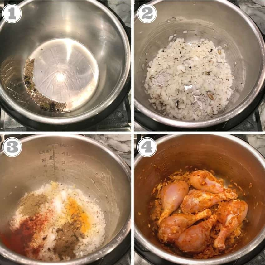 making chicken korma in the Instant Pot