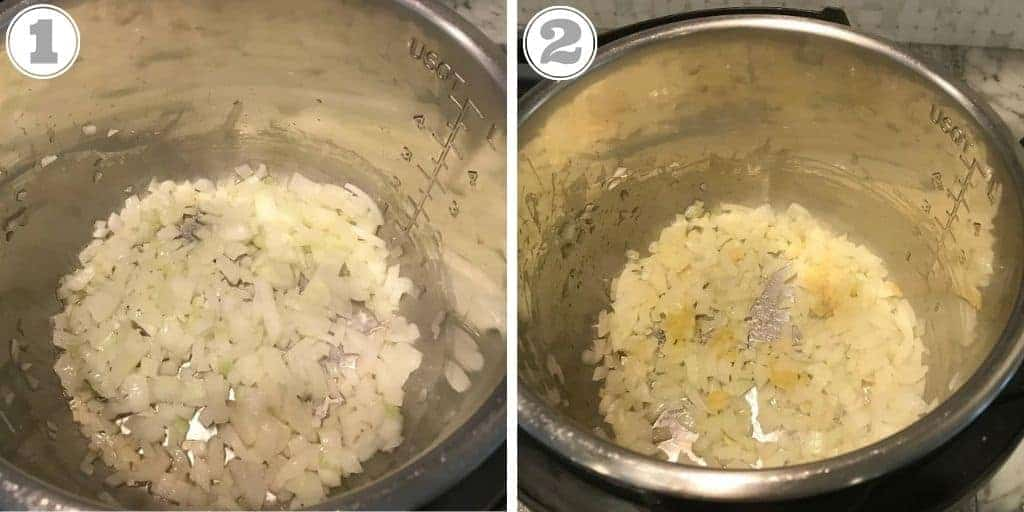 steps one and two of making dum aloo