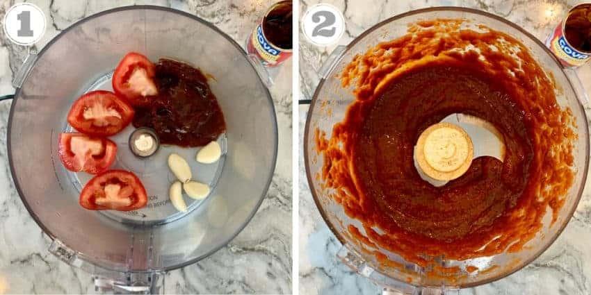 Tinga sauce made in food processor