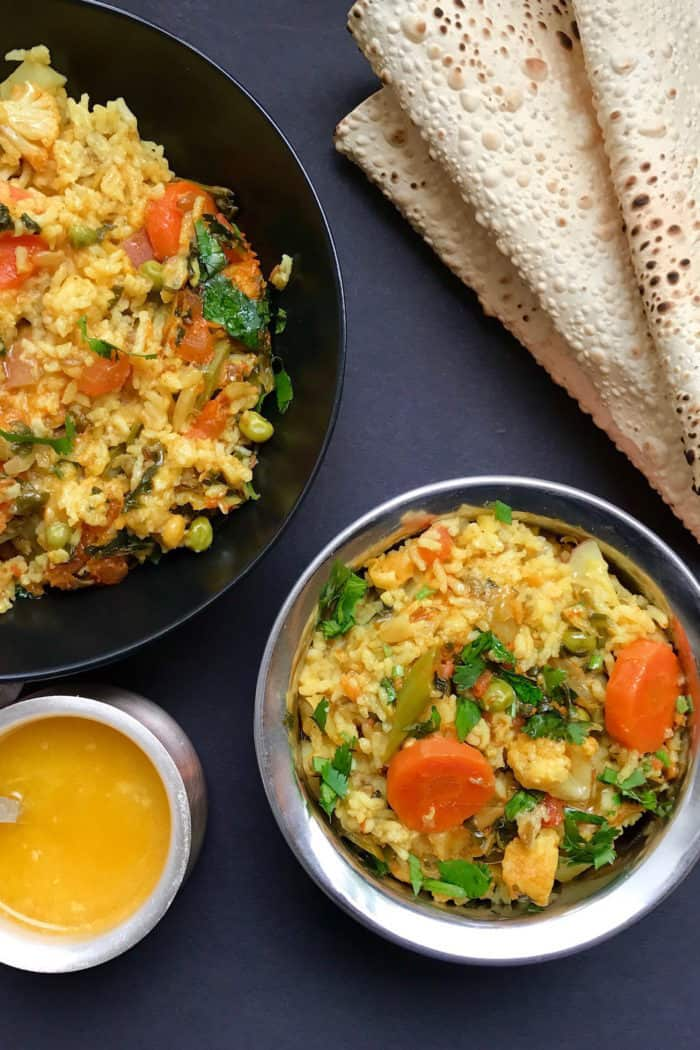 Mixed Lentils & Vegetables Khichdi – Instant Pot