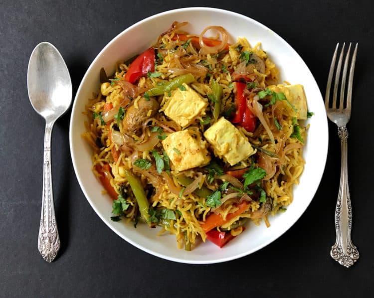 Vegetable and Paneer Biryani – Instant Pot