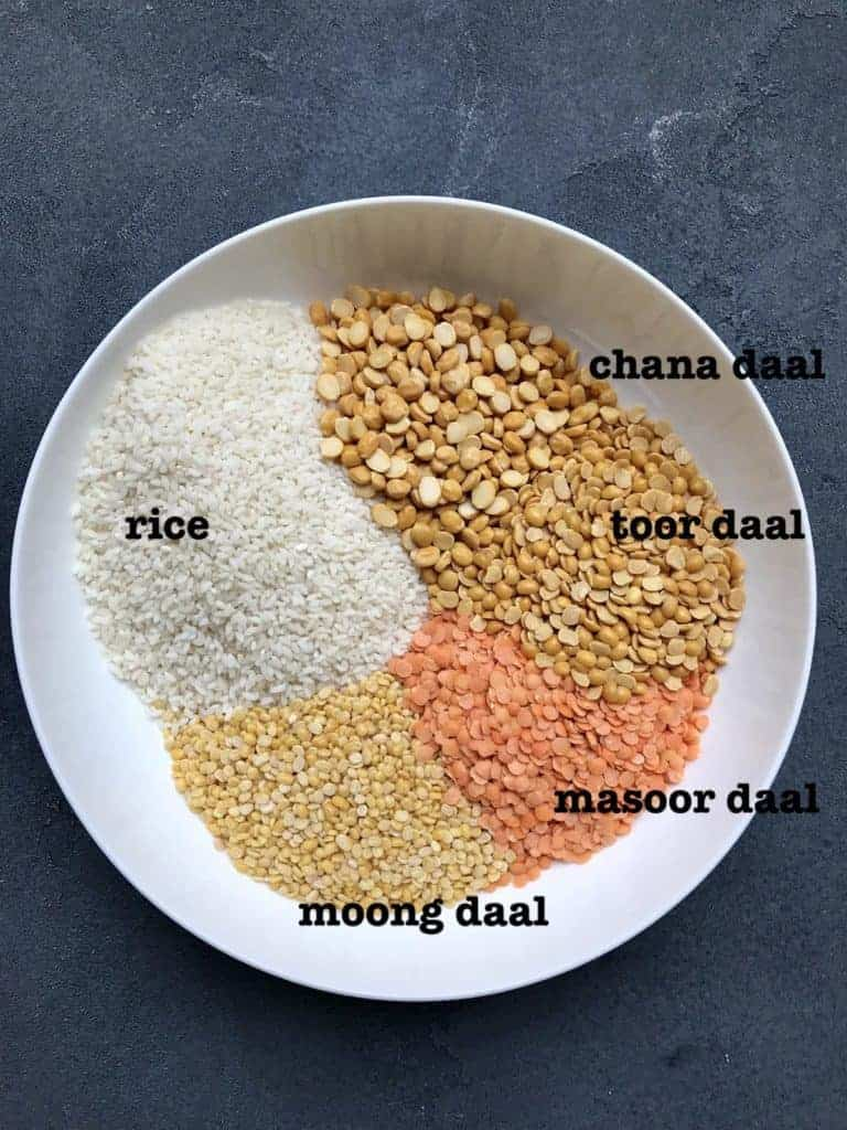 Bowl with rice and lentils