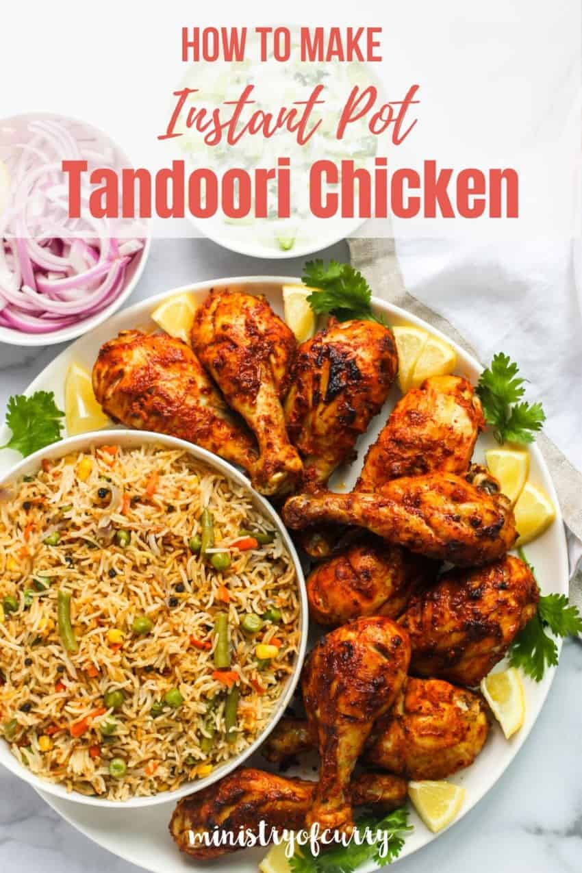 Tandoori Chicken platter with pulao