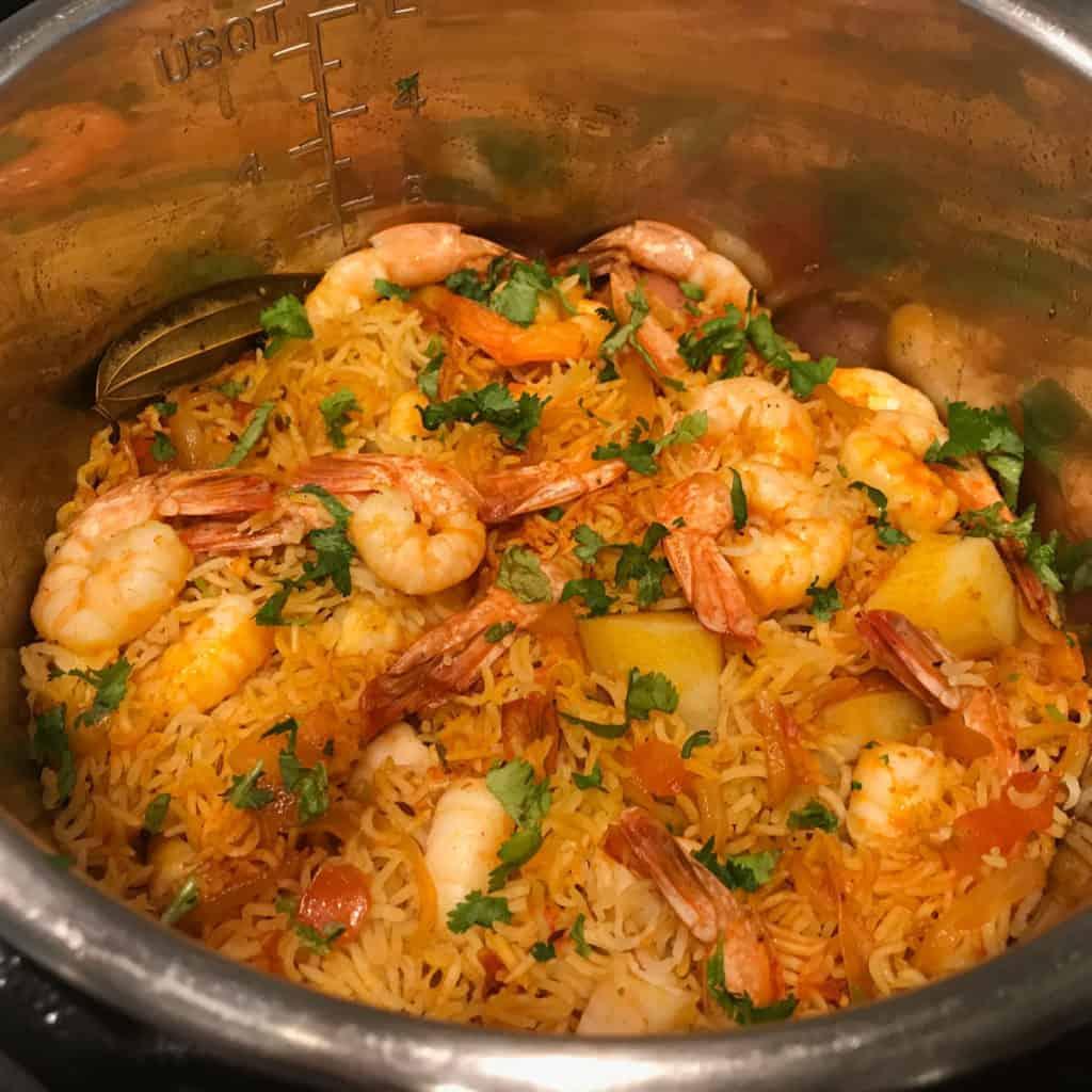 Shrimp Biryani in Instant Pot