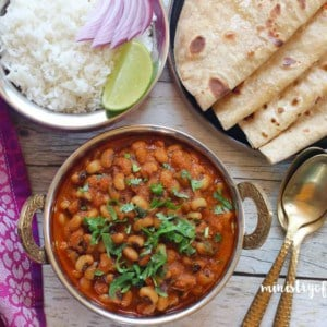 black eyed peas curry with rice