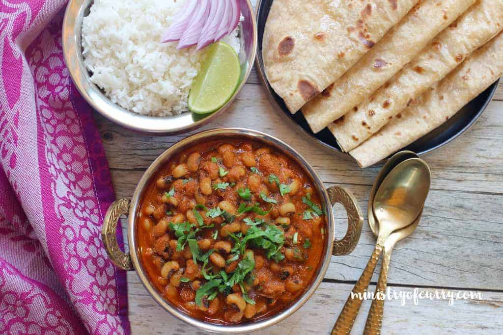 Black Eyed Peas Curry And Rice Instant Pot