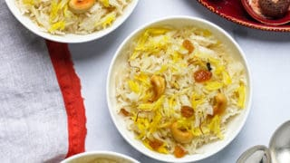 Sweet Coconut Rice {Narali Bhath}