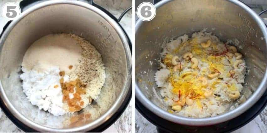 Final steps in making sweet coconut rice