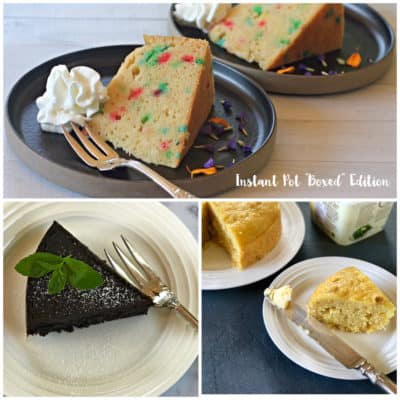 """Instant Pot """"Boxed"""" edition: cake, brownies, and corn bread"""