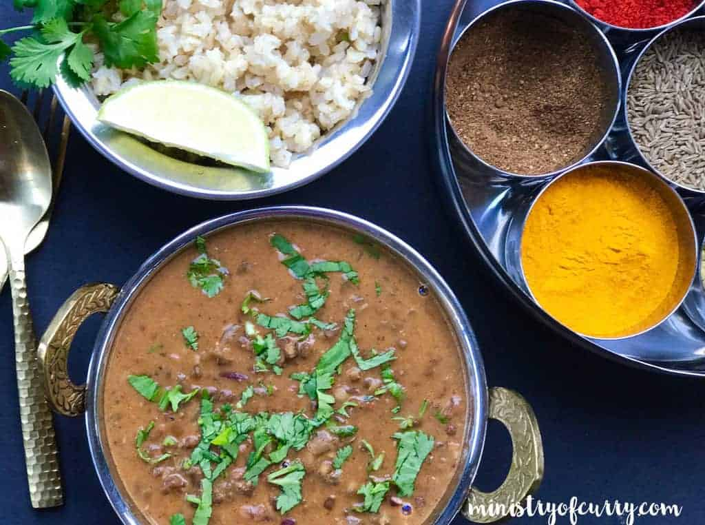 Madras Lentils/Daal Makhani in bowl