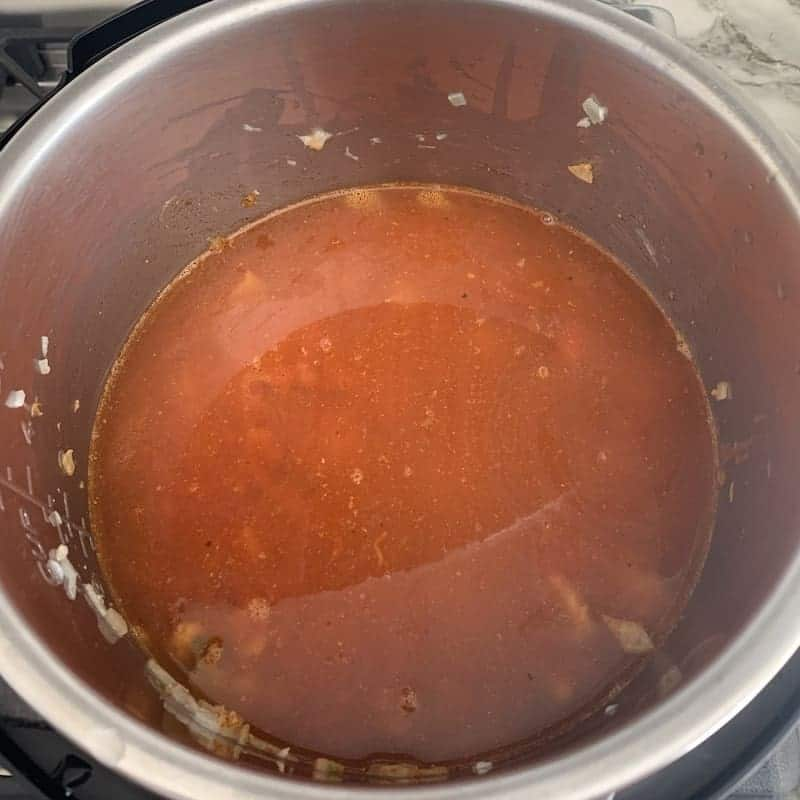 added broth to the Instant Pot