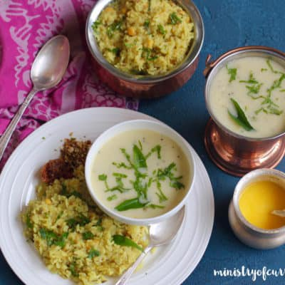 Gujarati Kadhi and Khichdi – Instant Pot