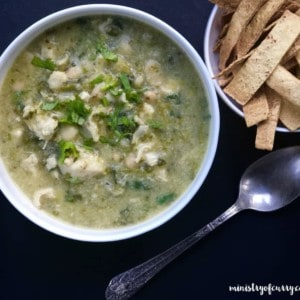 Quick White Chicken Poblano Chili