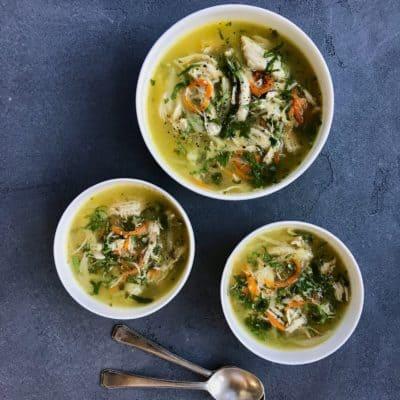 Chicken Coriander Soup – Instant Pot
