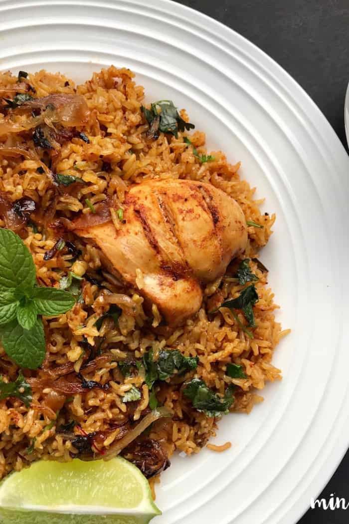 Brown Rice Chicken Biryani – Instant Pot