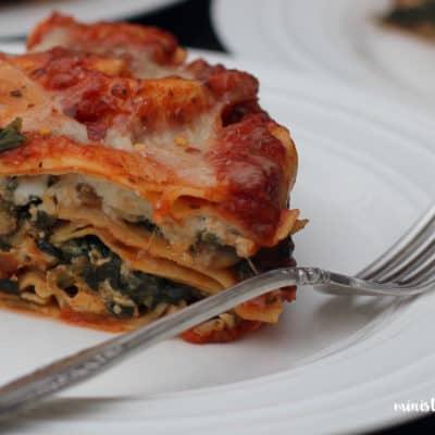 Spinach Mushroom Lasagna – Instant Pot