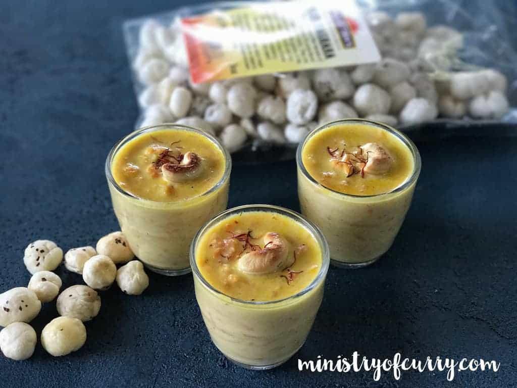 carrot makhana kheer