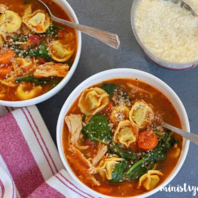 Chicken Tortellini Soup – Instant Pot