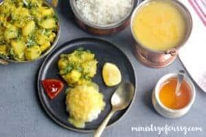 batata bhaji {Indian spiced potatoes}