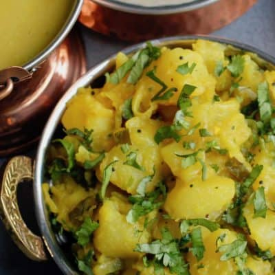 Batata Bhaji {Indian Spiced Potatoes} – Instant Pot
