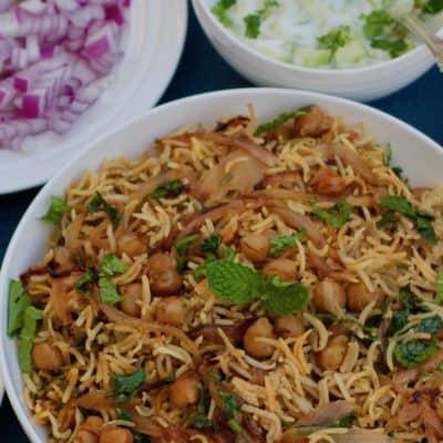 Chickpea Biryani – Instant Pot
