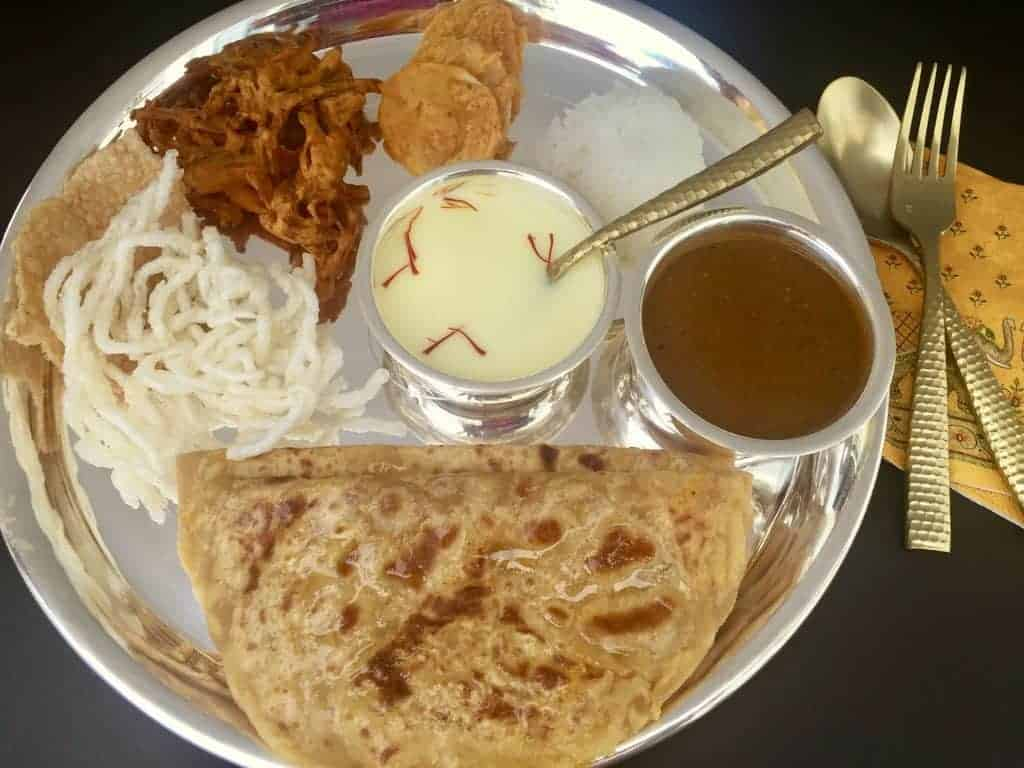 Puran Poli thali with all the side dishes