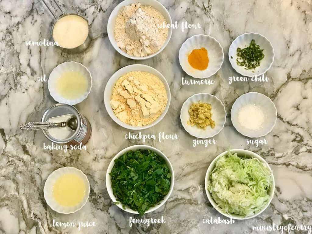 dudhi muthiya ingredients